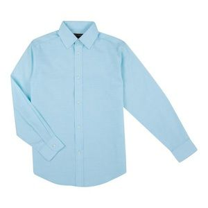Dickers turquoise striped long sleeve button down